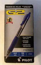 12 PILOT G2 BLUE  0.7 mm FINE ROLLERBALL PENS 31021 G2