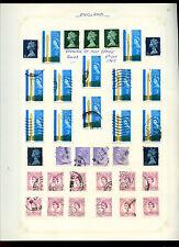 GB Pre-decimal Machins Definitives Album Page Of Stamps #V5139