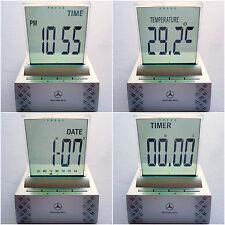 Mercedes Benz Drivers Line Calendar Alarm Timer Thermometer Digital Desk Clock
