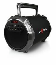 Axess Spbt1034gy Grey Portable 2.1 Speaker Cylinder With