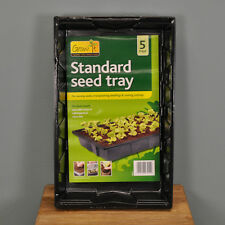 5 x Gardman Grow It Standard Seed Tray for Plant Potting, Seedlings & Cuttings