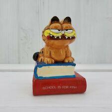 "Vintage Enesco Garfield the Cat 4"" Ceramic Figurine School Is For Fish"