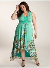 NWT Authentic IGIGI Olympia Chiffon Mint Maxi Dress, 14/16