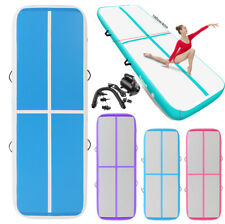 Fbsport 8in/20cm Inflatable Air Track Tumbling Gymnastics Mat Floor Yoga+Pump