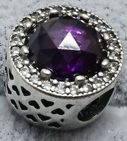 Pandora Radiant Hearts 791725NRP Purple Charm S925 ALE