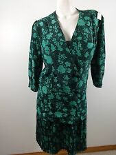 BGB WOMENS BLUE FLORAL 2 PC POLYESTER DRESS SIZE 10