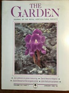 THE ROYAL HORTICULTURAL SOCIETY THE GARDEN JOURNAL JANUARY 1993 VOL 118 PART 1