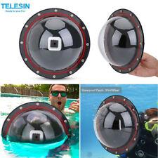 Telesin Dome Port Cover Underwater Housing Case for Gopro Hero 4/5 Session Cam