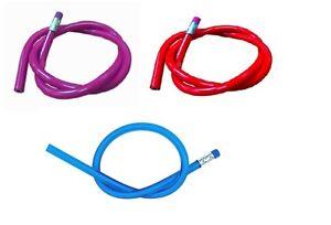 Flexible Bendy Lead Pencils x 40 Red BIue Purple Ideal Teacher Gift Party Filler