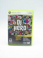 DJ Hero Xbox 360 Game W/Manual Tested Free shipping