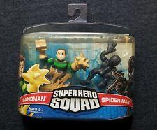 2007 Super Hero Squad Sandman & Black Costume (Venom) Spider-Man Figures 2-Pack