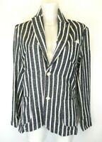 32) Recycled Art World Damen Blazer Jacke Gr.48 4XL Neu Gestreift