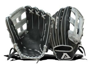 Akadema Pro Soft Elite Series AJG334 Baseball Softball Glove RHT Black/gre