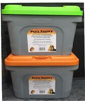 New Pet Food Storage Container Animal Dry Cat Dog Bird Food Box Bin Orange Green