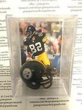 Yancey Thigpen Pittsburgh Steelers Mini Helmet Card Display Collectible Auto WR