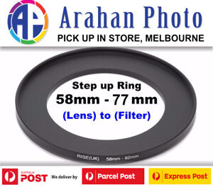 Step Up Ring 58-77mm  58mm Lens to 77mm filter