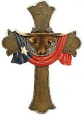 "Montana West Western Texas Flag Horseshoe and Steer Cross 18"" x 13"""