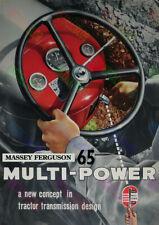 Massey Ferguson 65 Multi-Power Tractor Brochure Poster (3 for 2 offer)