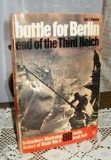 Battle for Berlin Third Reich by Ziemke Ballantin's Battle Book #06 1970 WWII