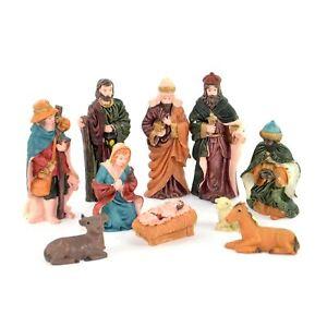 10pcs Nativity Figures Set Movable Individual Christmas Home Decoration Easter