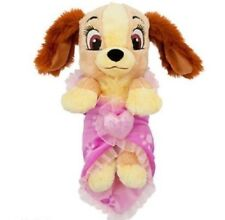 """- Disney Parks Babies Lady and The Tramp 10"""" Baby Plush With Blanket"""