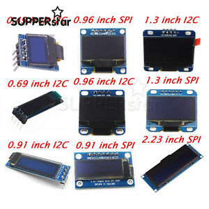 0.49/0.69/0.91/0.96/1.3/2.23 inch OLED Display Module IIC I2C Screen for Arduino