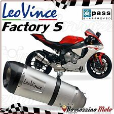 POT SILENCIEUX APPROUVE LEOVINCE FACTORY-S INOX YAMAHA YZF 1000 R1 2015 2016