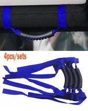 fit Jeep Wrangler CJ YJ TJ JK JL Blue Thin Unlimited Roll Bar Grab Handles 4pcs