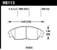 HB120F.560 HPS Front Disc Brake Pad Fits 91-99 Mitsubishi 3000GT VR-4 Hawk Perf