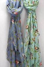 Écharpes et châles bleus coton mélangé pour femme