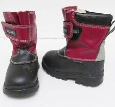 Stride Rite Gulliver Toddler Leather Lined Boots Velcro-Red/Black Size 6.5 to 7