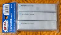 Atlas N #50002951 Maersk Line II 40' Standard / Set #1 ( Set of 3 Containers )