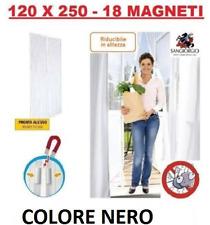 TENDA ZANZARIERA MAGNETICA CON CALAMITA X PORTA BALCONE FINESTRA 120x250 CM NERA
