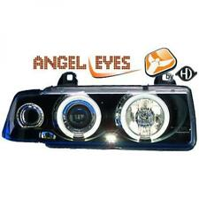 LHD Projector Headlights Pair Clear Black For BMW 3 Series Compact E36 90-99