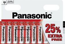 NUOVO 10 x AA Genuine Panasonic Zinco Carbonio, R6 1.5 V a lunga scadenza