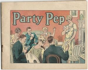 Party Pep -1920s Dr. Miles Laboratories Nervine Tablets Home Party Games Booklet