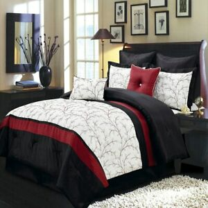 Atlantis 12 Piece Embroidered Comforter Bed in a bag with Sheet Set