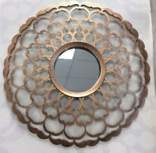 Set Of 3 Bronze Moroccan Inspired Mirrors Wall Art Home Decor