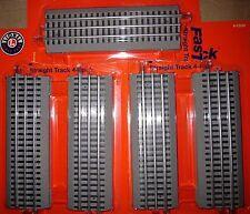 "10 NEW Lionel FasTrack 10 inch O Gauge Straight Train Track 10"" Fast Track"