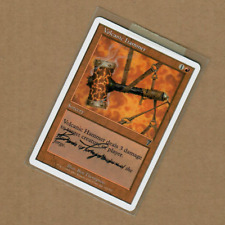MTG Ben Thompson Volcanic Hammer Artist Proof 7th Edition Sketched Back