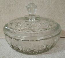 """Avon Round 6"""" Glass Serving Bowl With Lid"""