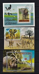 Africa Postage Stamps -3 Used Mini Sheets Featuring Wild Animals Clean (3 M/s).