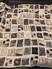 Vintage echo square blocks scarf Bbb2