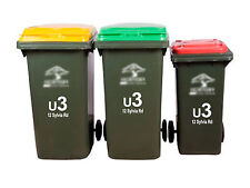3 X Unit Number Wheelie Rubbish Bin Stickers House Number Street Name Decal