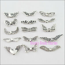 30Pcs Mixed Tibetan Silver Tone Wings Charms Pendants