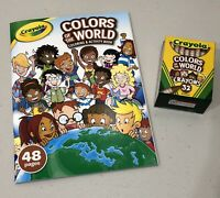 Crayola Colors Of The World Coloring And Activity Book And Crayons -Brand New
