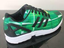 best service 485d4 d79c6 adidas Originals ZX Flux Green Print Mens Trainers Shoes Green black UK 7  EU 40