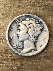 1919D Mercury Dime F