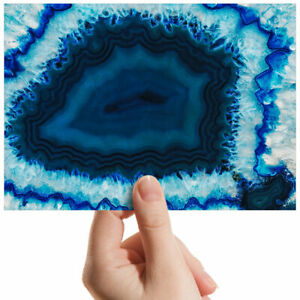 "Macro Of Agate Geode Blue Small Photograph 6"" x 4"" Art Print Photo Gift #3437"
