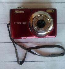 Nikon COOLPIX L24 14.0MP Digital Camera - Red Works Great w/ Case